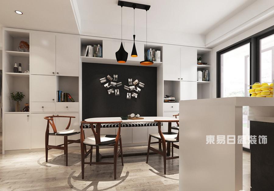 桂林冠泰•城国二居室145㎡简约风格:餐厅装修设计风格