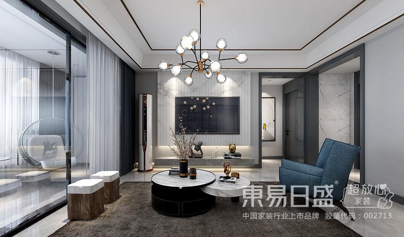 空间整体运用简约的设计手法,开房的布局,造型干净利落的顶面与墙面,体现 出现代简约生活的品质感。