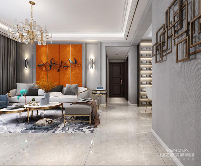 现代轻巧豪华风格更注重生活质量,装饰上面的外观一般简约豪华,为每一位业主营造一个完全放松的家居环境。
