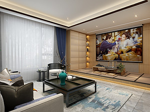 十里香溪60幢340平新中式风格