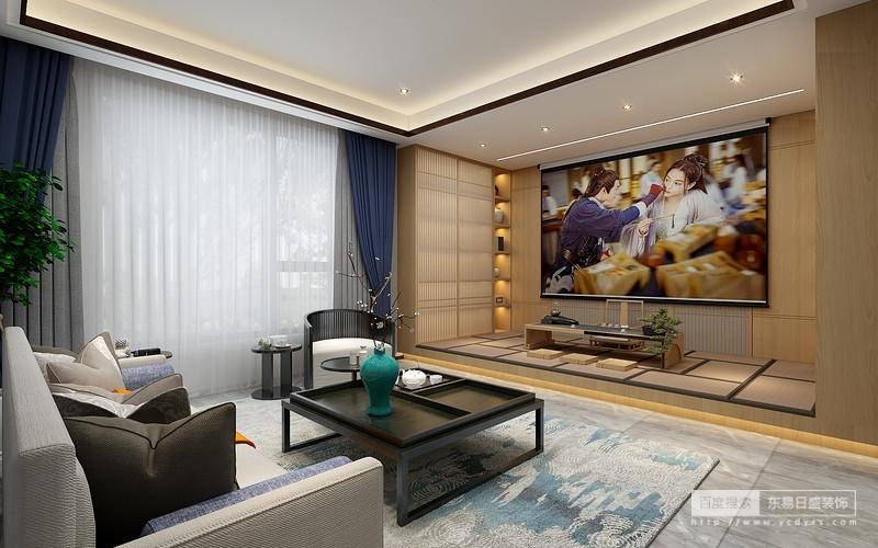 开敞的茶室将四周景物尽收眼底,室内与室外自然融合,原木色的茶桌衬托着器皿的精致,营造闲逸而舒适的空间氛围。