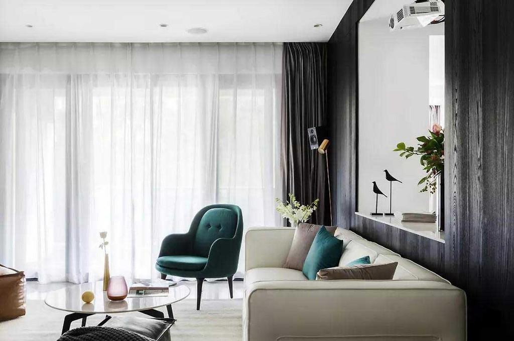 墨绿色单人沙发椅复古迷人,无疑是提升室内格调的表达方式之一。
