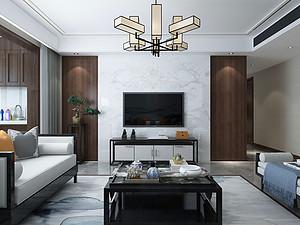 132平米中式风格,古朴典雅