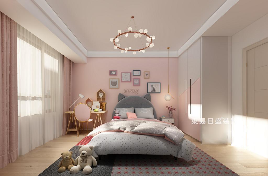 桂林国学府三居室110㎡北欧风格:公主房装修设计效果图