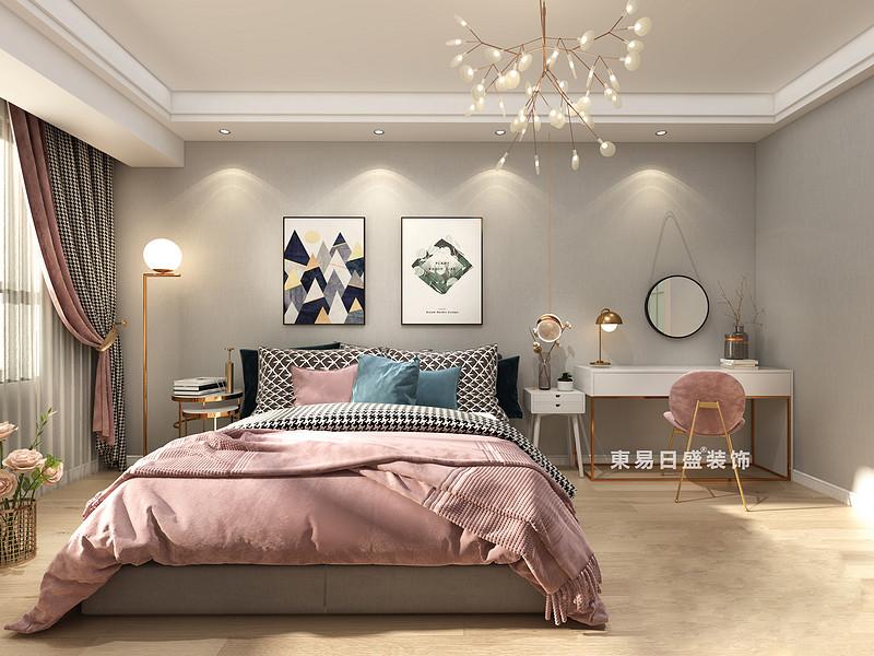 桂林國學府三居室110㎡北歐風格:主臥室裝修設計效果圖