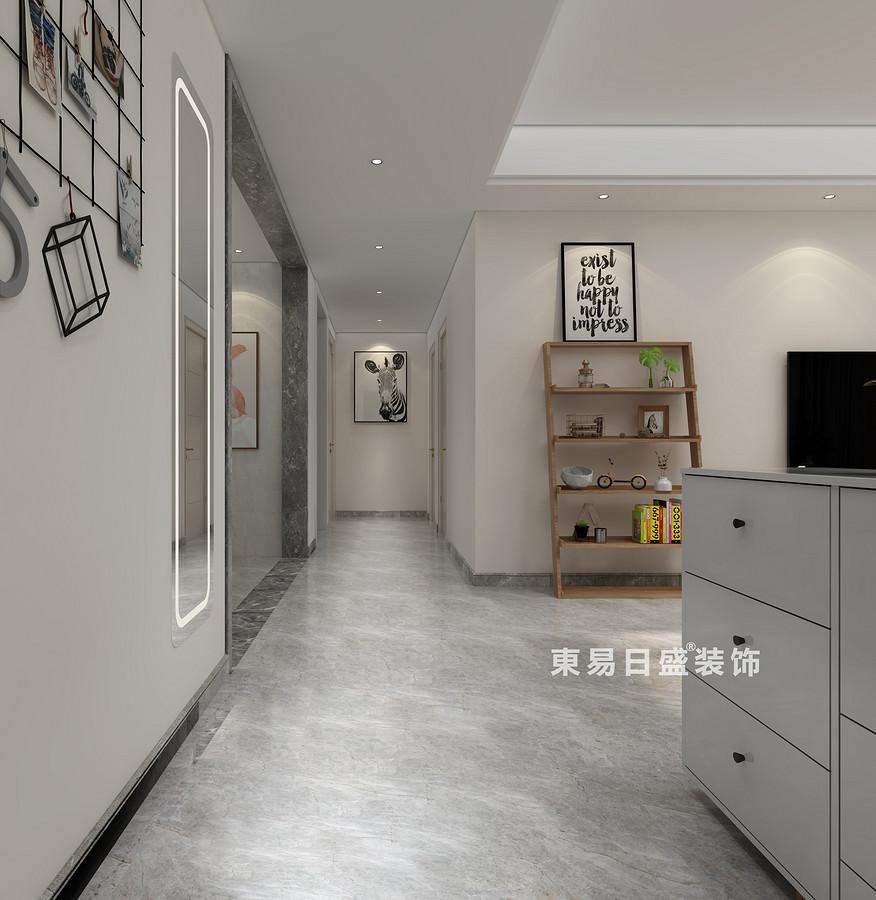 桂林國學府三居室110㎡北歐風格:過道裝修設計效果圖