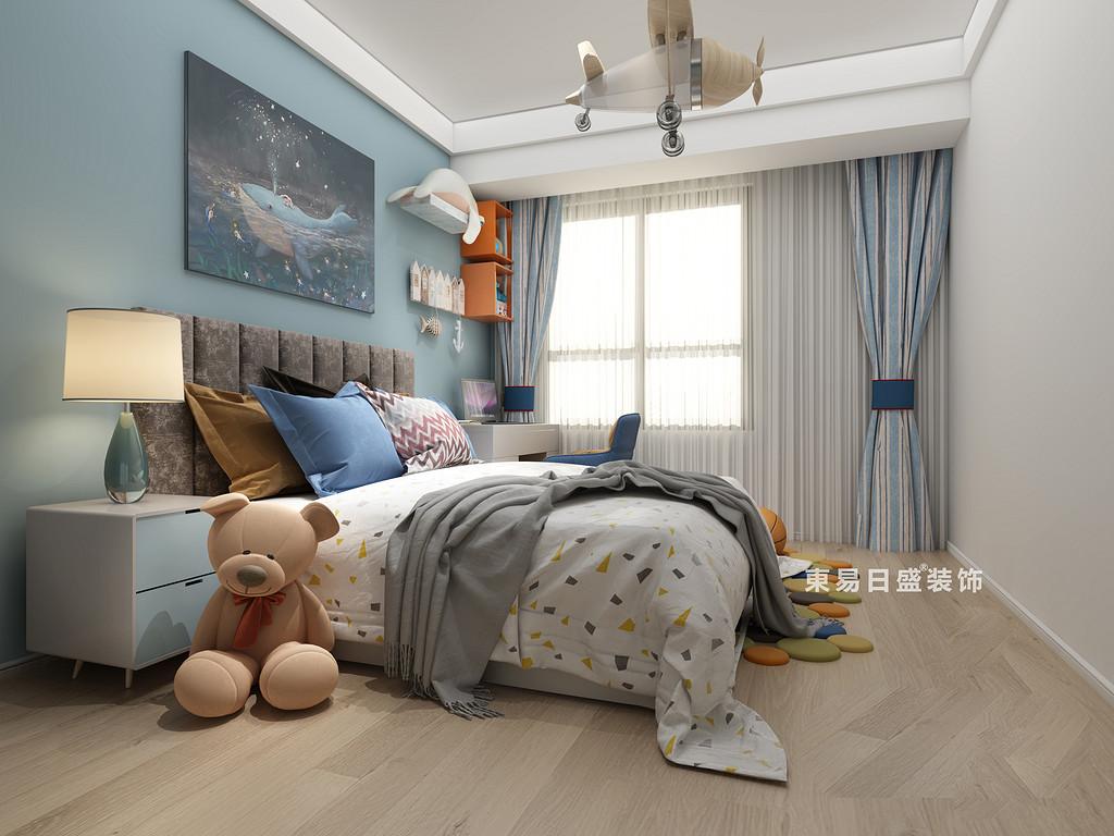 桂林国学府三居室110㎡北欧风格:公子房装修设计效果图