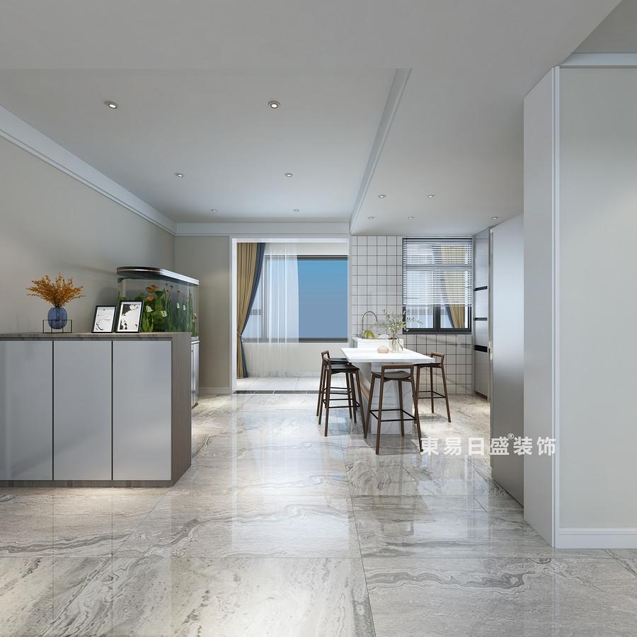 桂林复式楼280㎡现代简约风格:客厅过道装修设计效果图