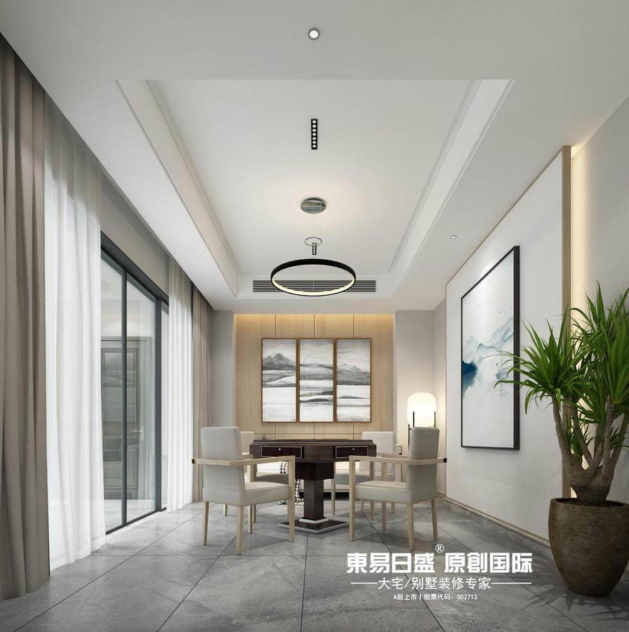 新安厦•西宸源著E户型顶层合院6房2厅210㎡样板房现代简约风格:娱乐室装修设计效果图