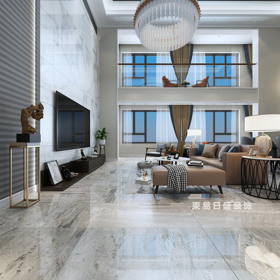 桂林复式楼280㎡现代简约风格:客厅飘窗装修设计效果图