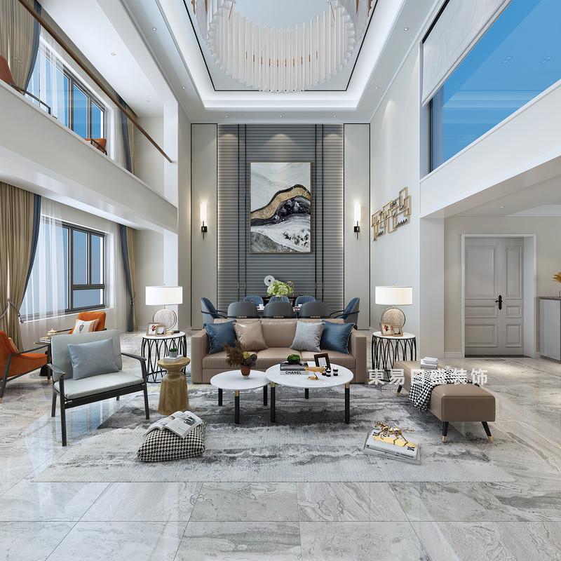 桂林复式楼280㎡现代简约风格:客厅装修设计效果图