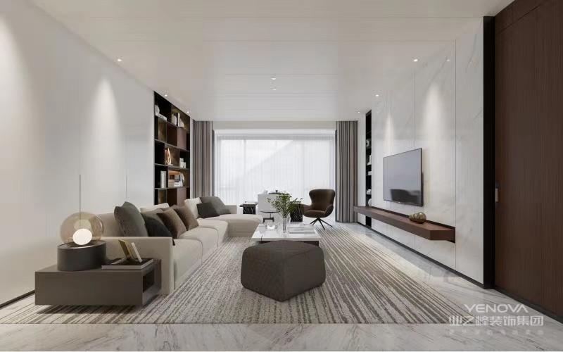 这种装修风格的主体装修比较简洁,但也不像现代简约那样随意,用于装饰的壁纸和家具线条优美,在看似简洁的外表下,给人一种低调奢华有内涵的感觉。