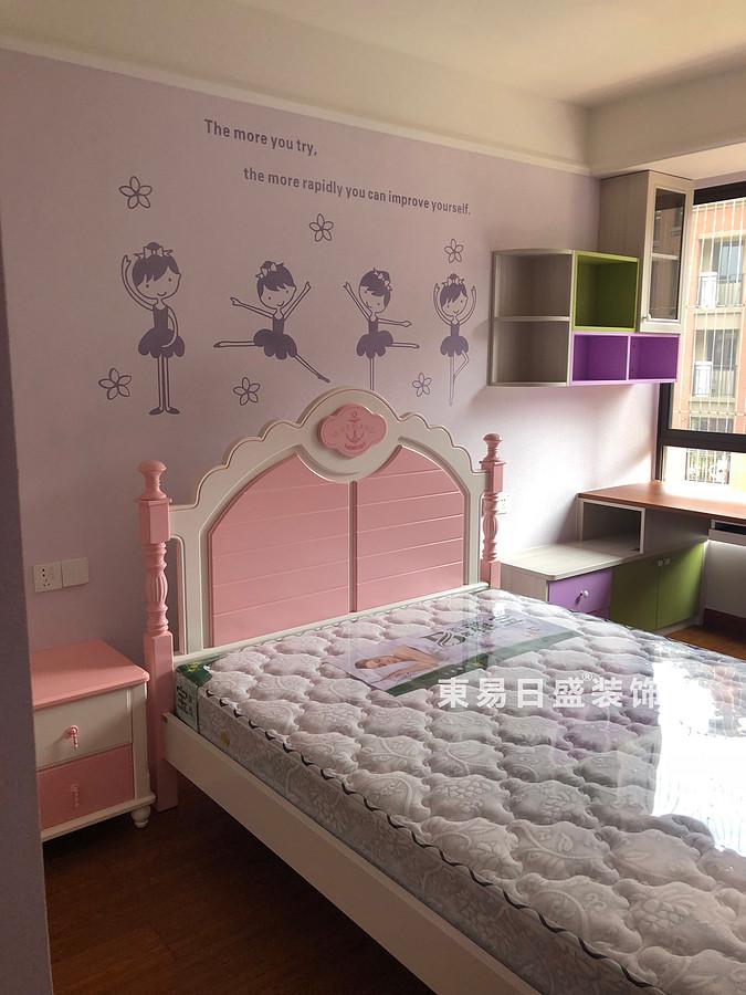 桂林彰泰•清华园四居室140㎡美式和欧式混搭风格:女儿房装修设计实景图