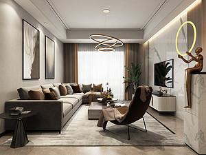 香城世家126平现代轻奢风格