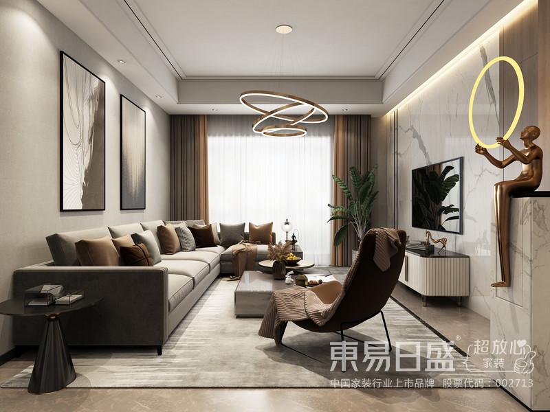 进户门出玄关的处理结合了暗藏灯带的处理更显独特,客厅的背景墙运用木饰面和岩板,完美的把隐形门融合到了一起。原先的餐厅稍显局促,把外卫的墙体敲掉之后增大了空间的采光和空气的流通,使得整个空间更显通透。