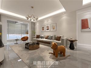 城開首府-120平米三居室-現代簡約風格案例
