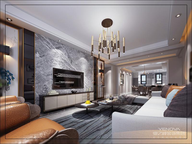 整体以极简时尚的大胆空间基础,搭配上个性独特的设计元素,彰显出主人不凡脱俗的优雅气质。