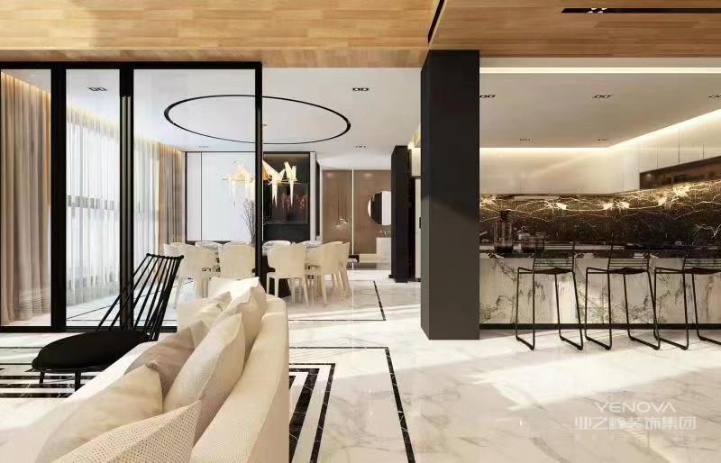 现代设计追求的是空间的实用性和灵活性。居室空间是根据相互间的功能关系组合而成的,而且功能空间相互渗透,空间的利用率达到很高。