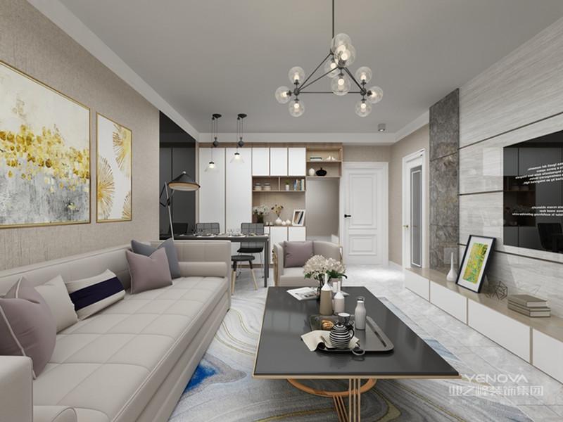 室内简约现代装修是以实用为主,化繁为简,成为简约的时尚风。