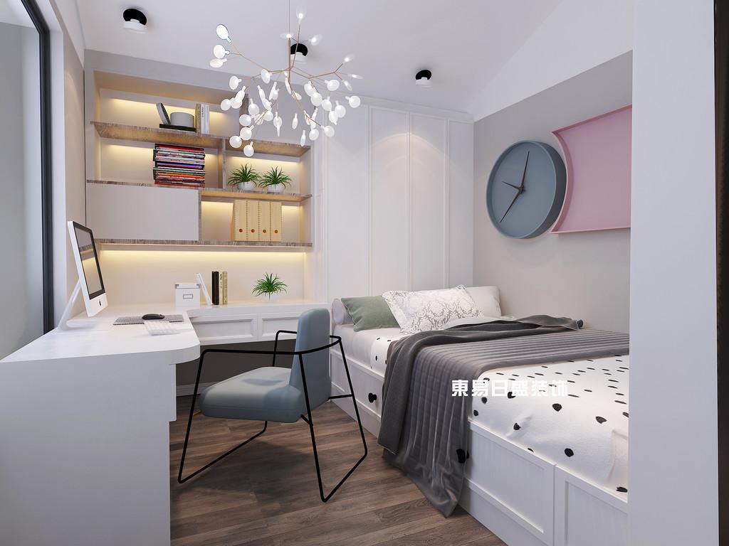 桂林彰泰?花千樹復式樓260m2北歐裝修風格:客臥室裝修設計效果圖