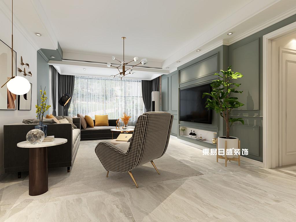 桂林彰泰?花千樹復式樓260m2北歐裝修風格:客廳裝修設計效果圖