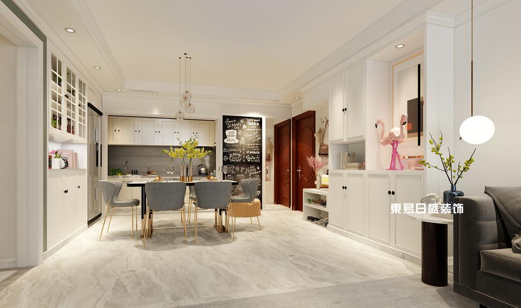 桂林彰泰•花千树复式楼260m²北欧装修风格:餐厅装修设计效果图