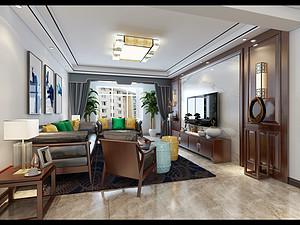 银色家园-140㎡-新中式风格