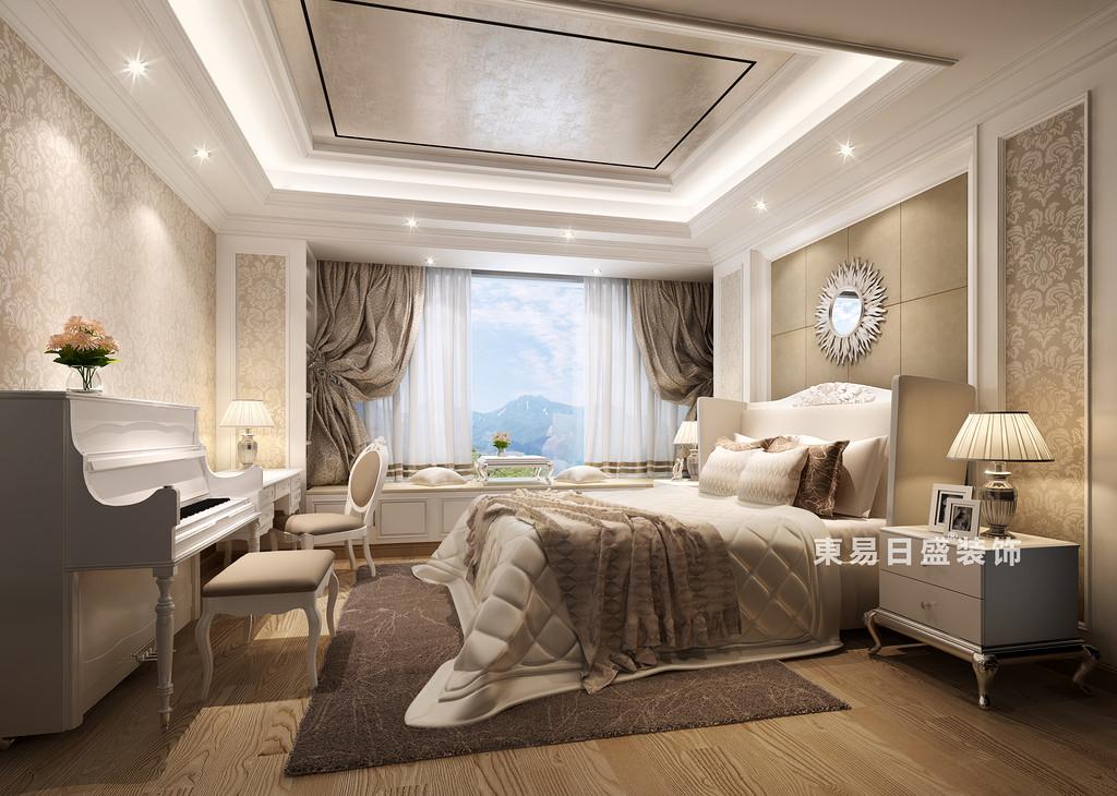 桂林国奥城四居室190㎡欧式风格:次卧室装修设计效果图