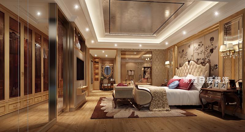 桂林國奧城四居室190㎡歐式風格:主臥室裝修設計效果圖