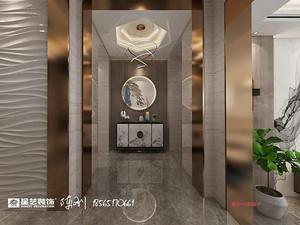 新中式风格门厅西甲买球盘口效果图