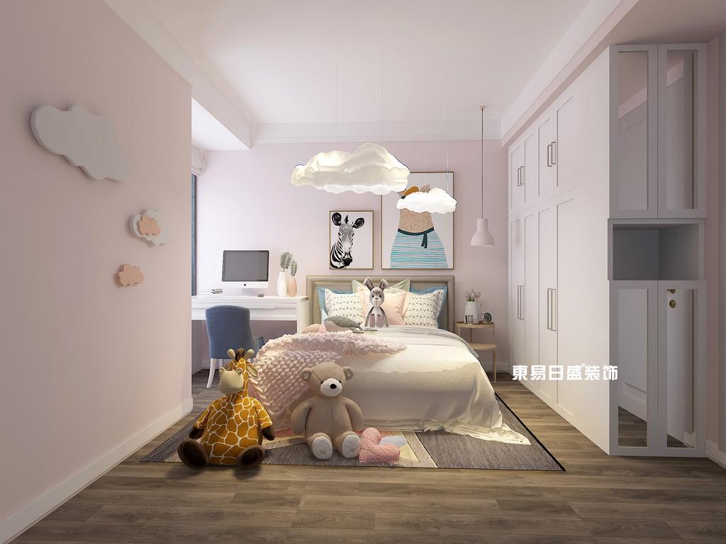 桂林彰泰•花千树复式楼260m²北欧装修风格:女儿房装修设计效果图