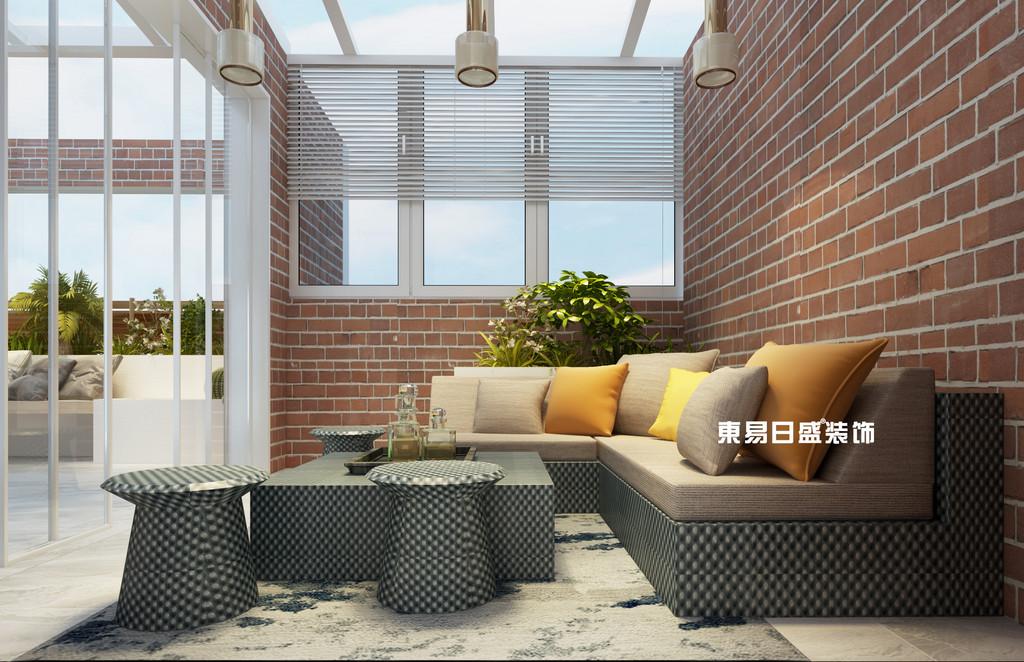 桂林彰泰•花千树复式楼260m²北欧装修风格:庭院装修设计效果图