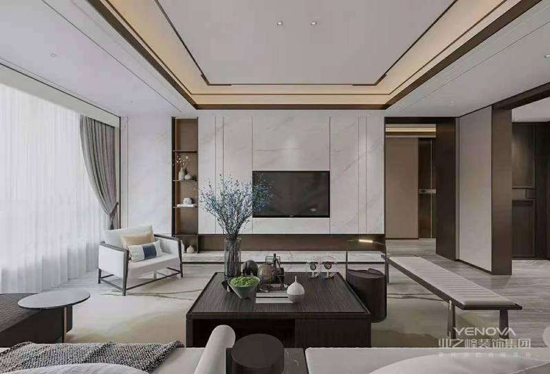 最常见的就是金属、大理石、皮革制品,这种质感十足的选材能完美的凸显出轻奢风格的低调奢华。在舒适度与观赏度方面,这些材料又能完全达到现代奢华的要求。