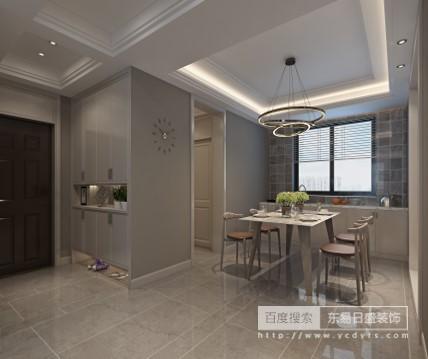 一张沙发一个茶几一个电视柜,简单的线条,简单的组合,再加入超现实主义的无框画,金属灯罩、个性抱枕以及玻璃杯等简单的元素,就构成一个舒适简单的客厅空间。