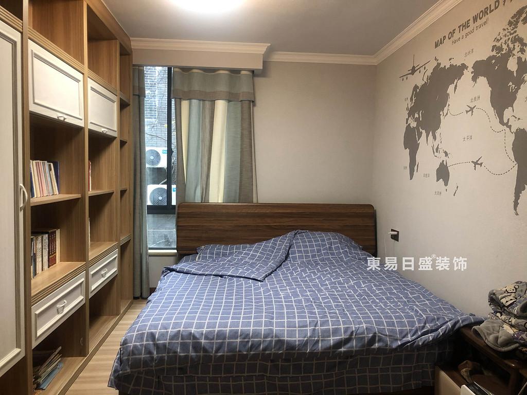 桂林興達?江山領秀底層復式樓260㎡中式風格:次臥室裝修設計實景圖