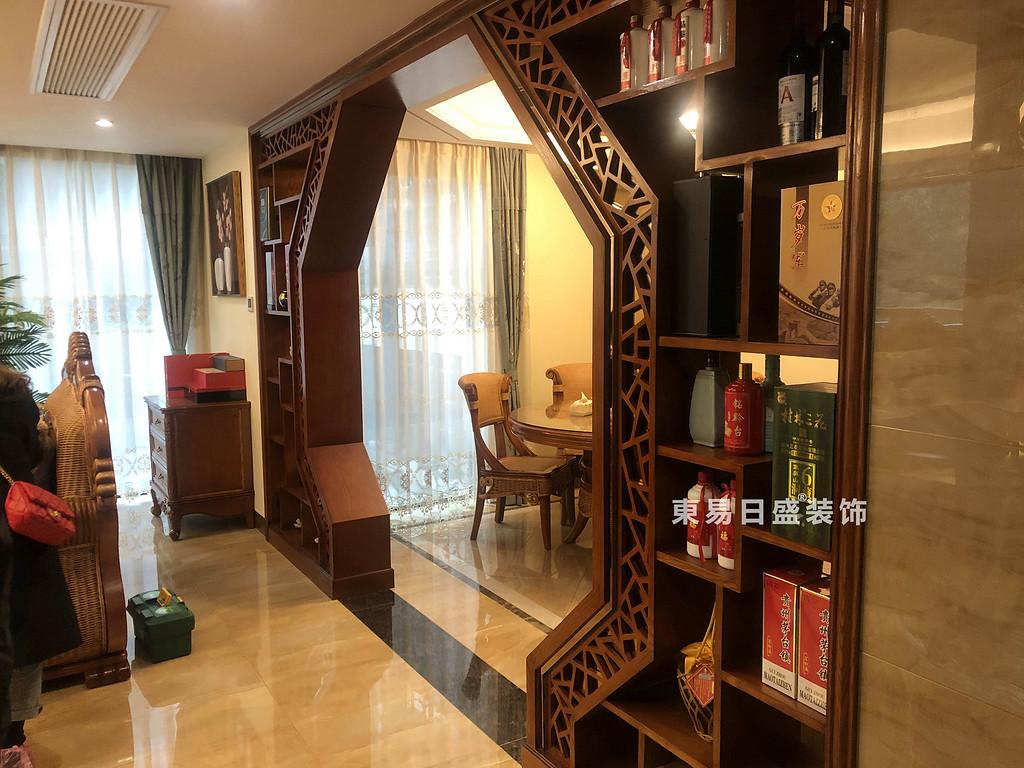 桂林兴达•江山领秀底层复式楼260㎡中式风格:餐厅装修设计实景图
