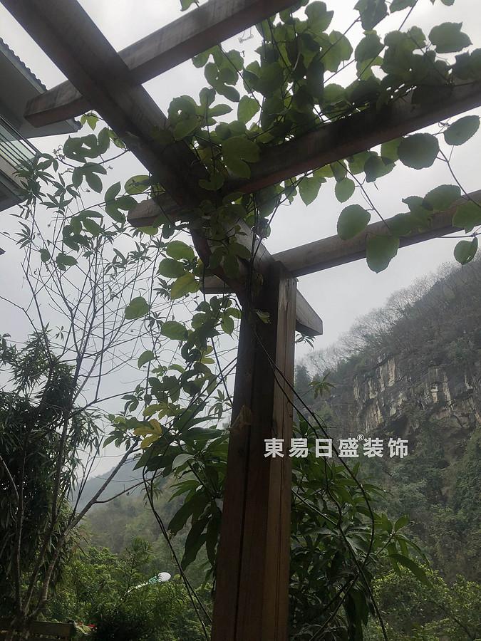 桂林兴达•江山领秀底层复式楼260㎡中式风格:露台装修设计实景图