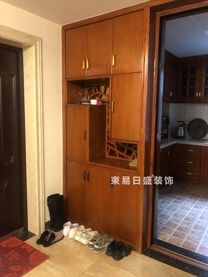桂林兴达•江山领秀底层复式楼260㎡中式风格:玄关装修设计实景图