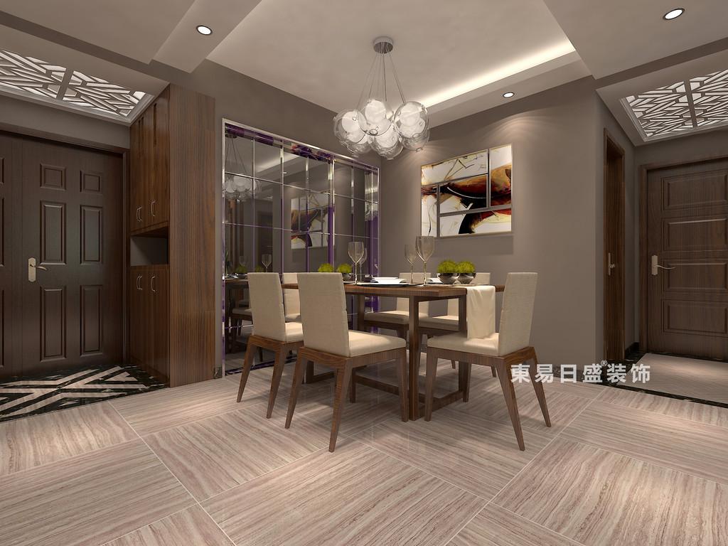 桂林彰泰•睿城二居室90㎡现代风格:餐厅装修设计效果图