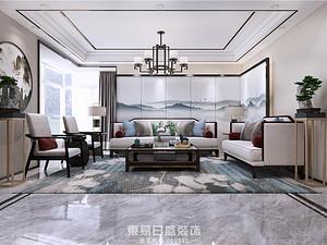 沂河高都-复式320平米-中式风格装修案例