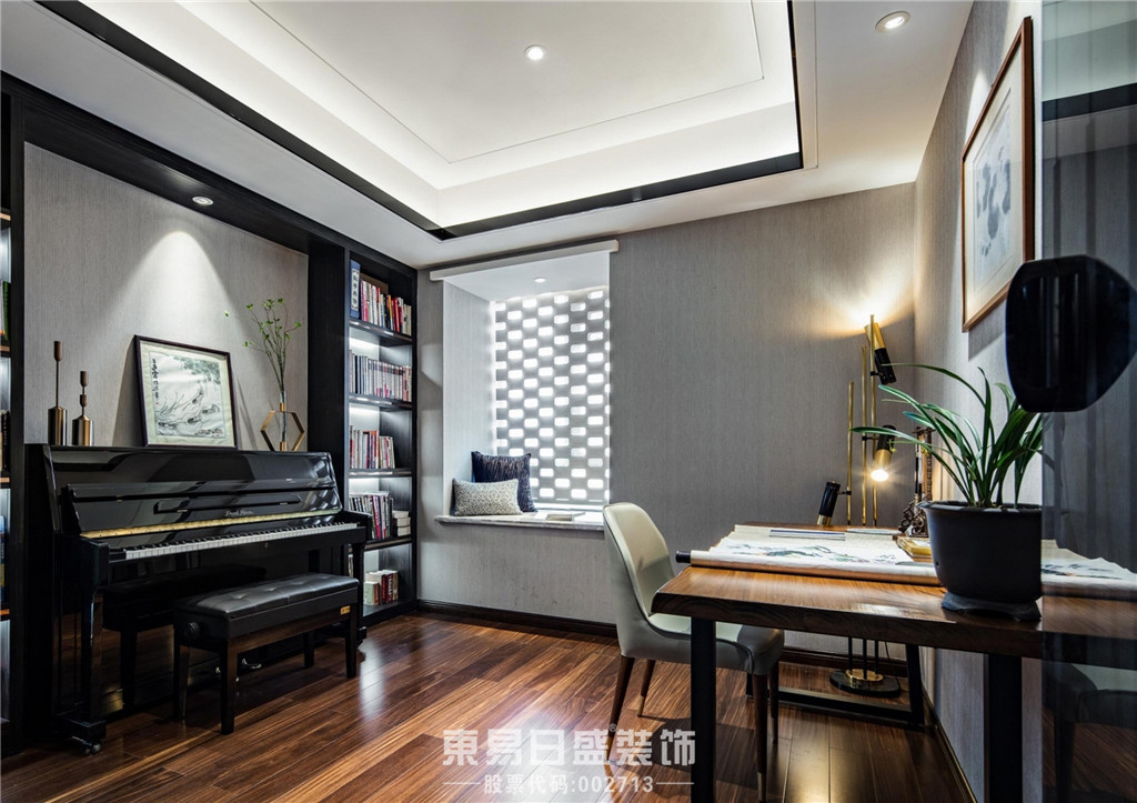 临沂家装公司简约风格-钢琴房
