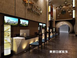 桂林華御公館售樓部800㎡裝修設計效果圖