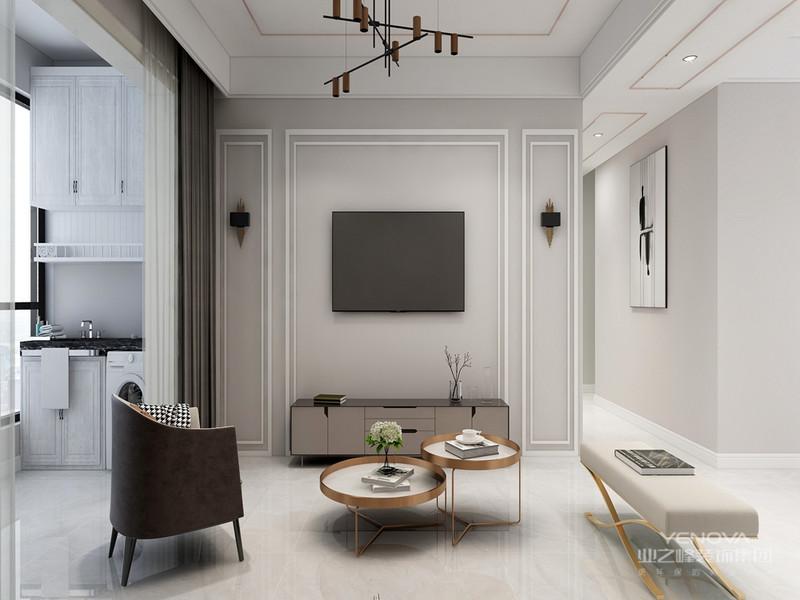 线条简洁的家具、到位的软装,上面的卧室是现代简约风格的经典作之一。床背后简单时尚的挂画是现代简约派的代表产品。