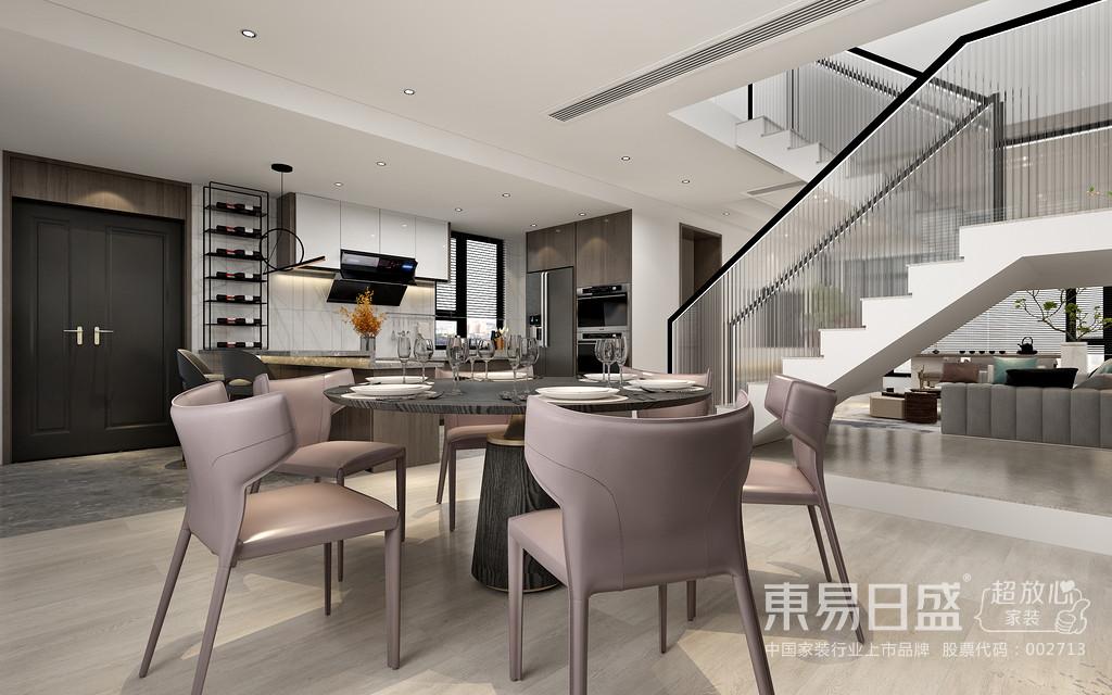 设计选择草灰绿颜色的沙发,搭配淡绿、芥末绿的器物,依据深浅变化形成层次,同时与窗外的湖光山色进行呼应,置身室内,与自然为邻、花草为伴。