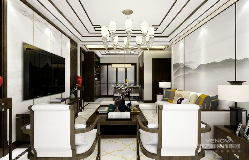 新中式古典风格的桌子有方桌、长桌、书桌等,无一例外的是这些桌子都是选用温润的木质材料。
