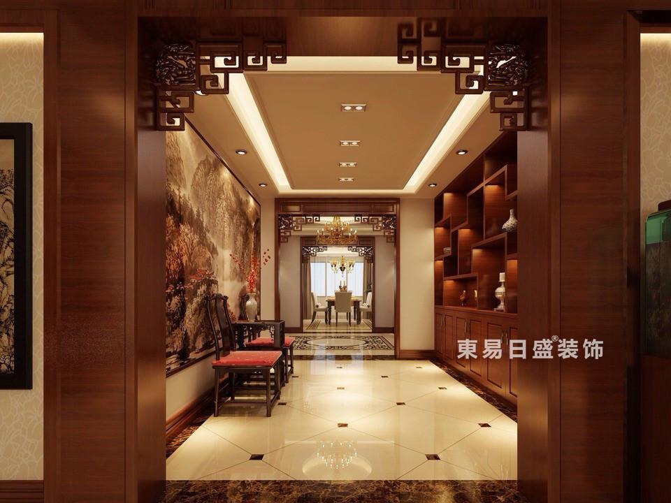 桂林彰泰?春天四居室170㎡新中式風格:門廳裝修設計效果圖
