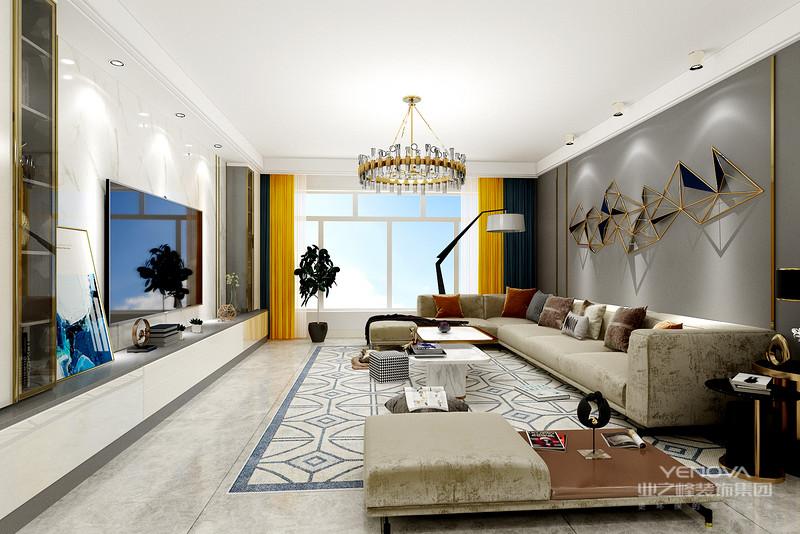轻奢风格的家居设计有着千万种打造方法,花样繁多的设计更是为我们带来了丰富多彩的时尚风华
