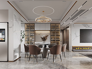 现代轻奢风格风格餐厅装修效果图