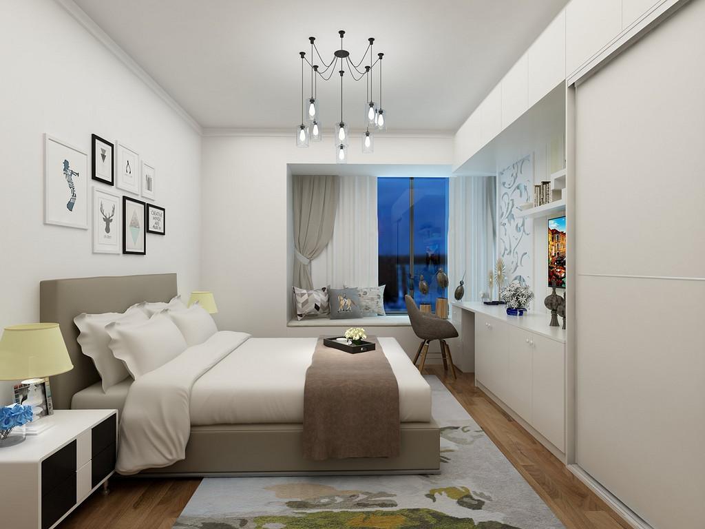 加上两笔看似不经意的点缀,让家形成强烈的对比还有着低调的脱俗气质。