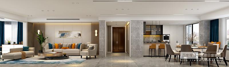 规整的家具干净利落之间,将简约的风格推向极致,几何线条传递出的造型和色彩共融, 塑造流畅的设计动线,艺术与生活于此交错。